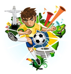 BRAZIL CUP vector image vector image