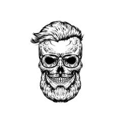 human skull in sunglasses vector image