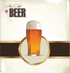 Ice Cold Beer background vector image
