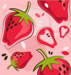strawberry background vector image vector image