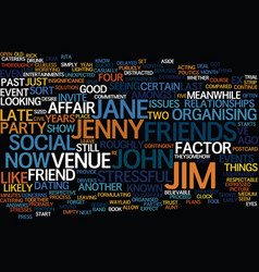 the ex factor text background word cloud concept vector image vector image