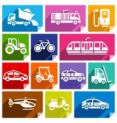 Transport flat icon bright color-04 vector image vector image