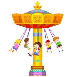 Children swinging in circle vector image vector image