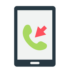 incoming call flat icon contact us and website vector image vector image