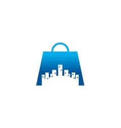 Shopping city logo vector