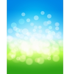 sky and green field abstract background vector image vector image