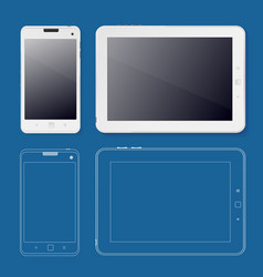 tabet and phone ui web design template white vector image vector image