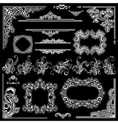 Wedding frames decoration design vector image vector image