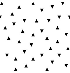 black random triangles seamless pattern vector image vector image