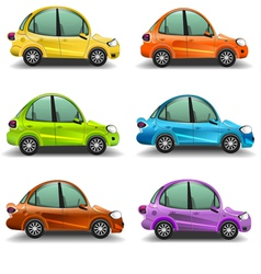Colorful cartoon cars vector image vector image