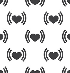 heart beat seamless pattern vector image vector image