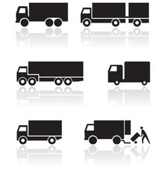 truck or van symbol set vector image vector image