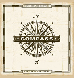vintage compass label vector image
