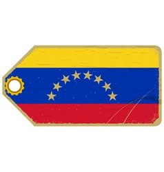 Vintage label with the flag of Venezuela vector image vector image