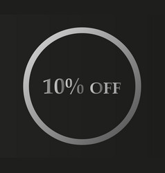 10 off icon vector image