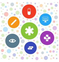 7 medicine icons vector