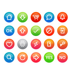 a set colorful round icons for a internet vector image