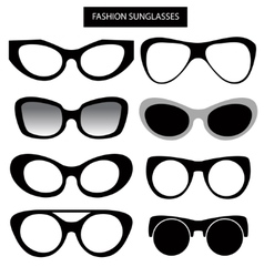 A set of fashion sunglasses and frames Cat Eye vector
