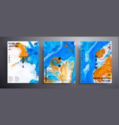Abstract acrylic poster fluid art texture vector