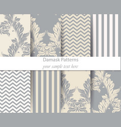 Acanthus leaf pattern set classic baroque vector