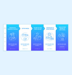 Acquired hearing loss factors onboarding template vector
