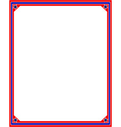 American flag border frame in red and blue colors vector