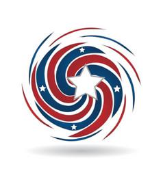 American swirly color splash icon vector