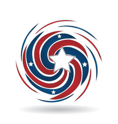 American usa swirly color splash icon vector