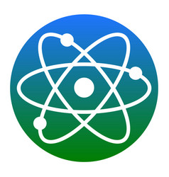 atom sign white icon in vector image