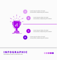Award trophy win prize first infographics vector