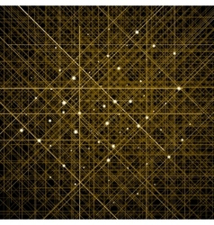Background with thin golden crossed lines vector