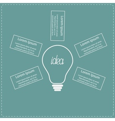 Big white light bulb infographic with text Idea co vector