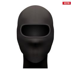 Black balaclava ski mask vector