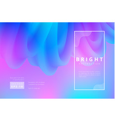 Bright abstract background wriggle shape vector