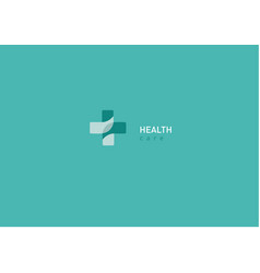 Bright logo on medicine and health chat vector