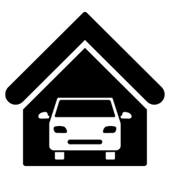 Car Garage Flat Icon vector image
