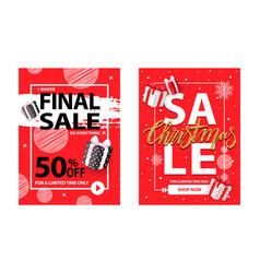 christmas sale for a limited time brochure vector image