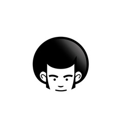 creative afro hair style logo vector image