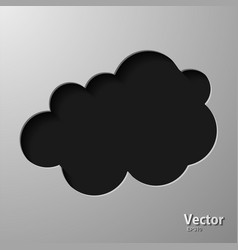Creative cloud background for your business vector