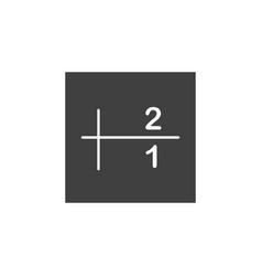 database server sort icon element of vector image