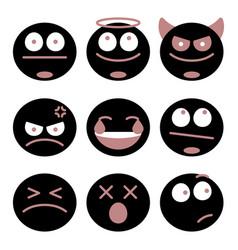 Different emoji set vector