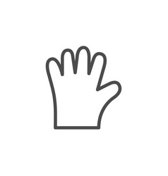 disposable glove line outline icon vector image