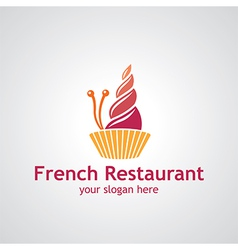 french restaurant vector image