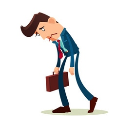 frustrated young worker vector image