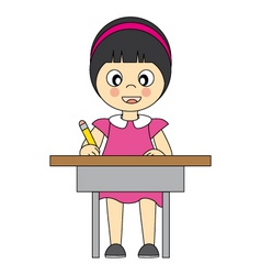 girl in school vector image