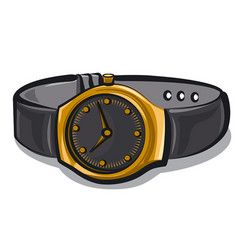 Gold wrist watches vector