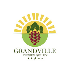 Grandville premium quality wine vector