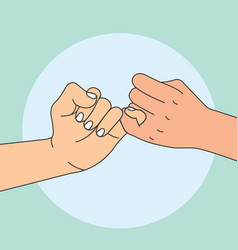 hand holding promise vector image