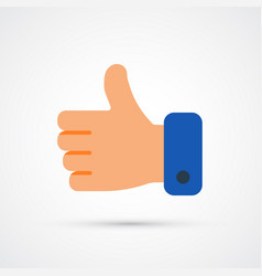 hand trendy social symbol trendy colored vector image