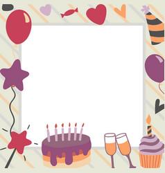 happy birthday in square vector image